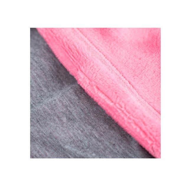 Set meisjes muts met col roze