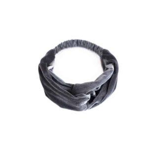 velvet haarband grijs fluweel