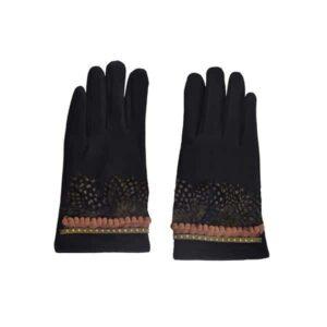 Bohemian Style handschoenen zwart