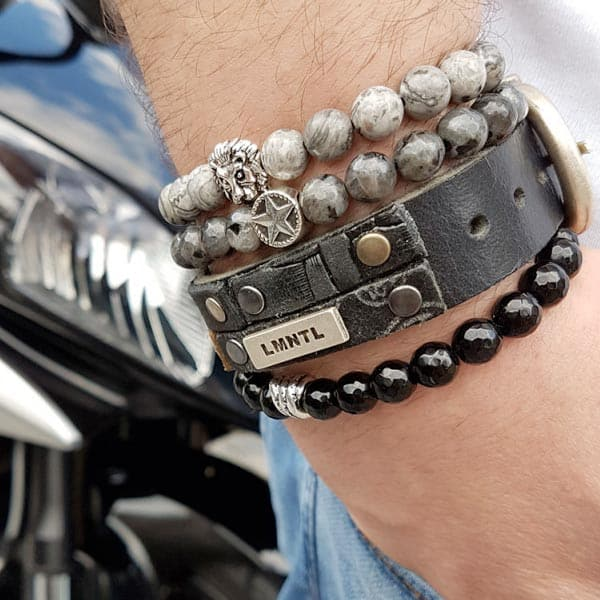 Favoriete Kralen armband heren zwart - Bohostijl.nl % &AO24