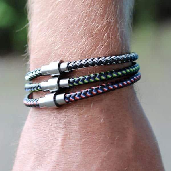 Heren armband touw