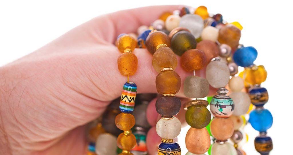 Ibiza armbanden met kralen en kettingen