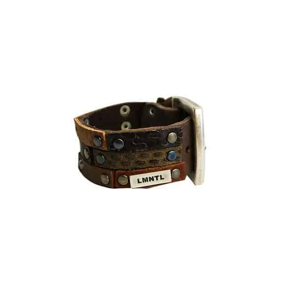 Herenarmband LMNTL Breed echt leer