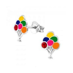 Kinderoorbellen gekleurde ballonnen met kristal