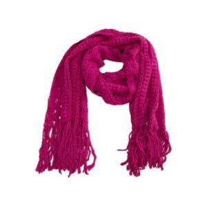 Roze sjaal winter gehaakt