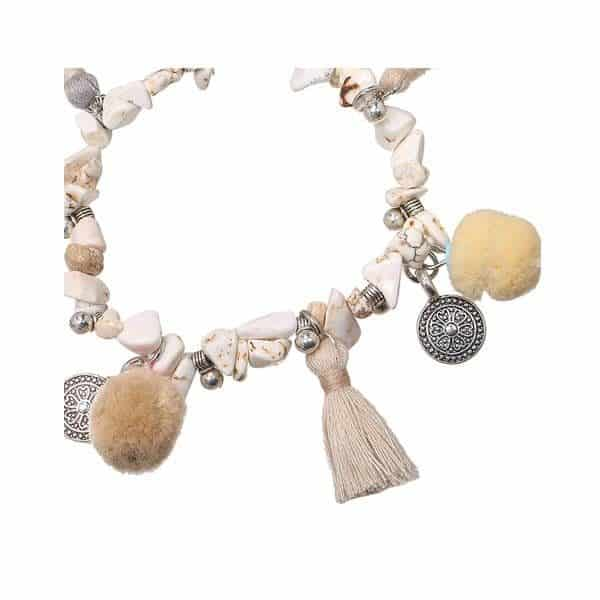 Taupe stenen armband